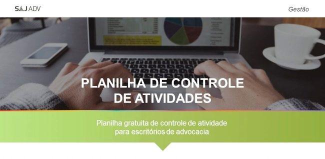 Planilha de Gestão de Atividades em Escritórios de Advocacia